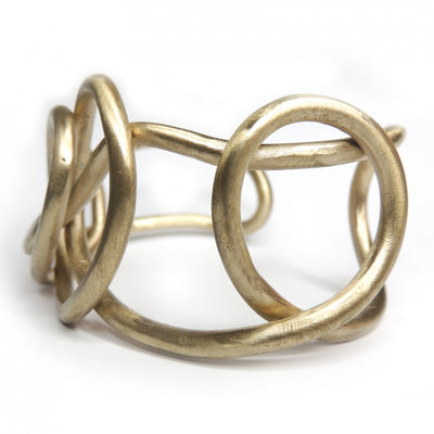 Solid bronze cuff, one size adjustable Made in Italy