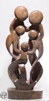 Family of Five , Hand Carved Vintage African Serpentine Sculpture