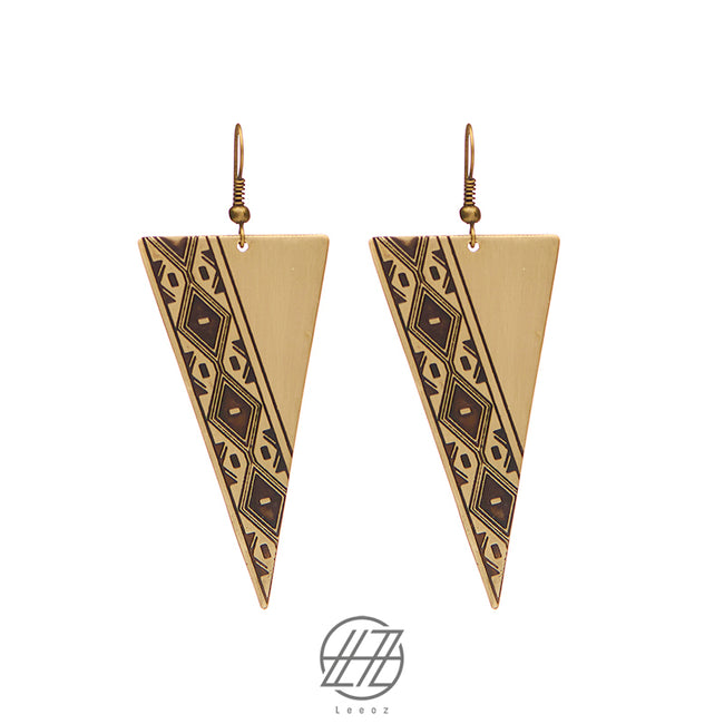 Handmade Etched Brass, The Gypsy Journey Earring