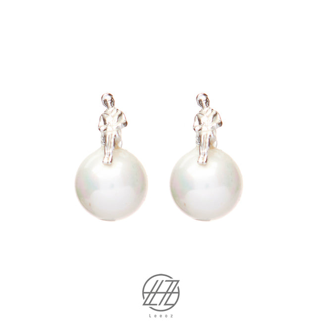 Handmade Silver and Pearl Earring