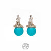 Handmade Silver and Turquoise Earring