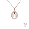 "Handcrafted Enameled Pomegranate ""Anar"" Silver Necklace"