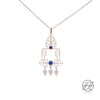 Handcrafted Silver with Lapis Lazuli Stone, Garden Of Paradise Necklace