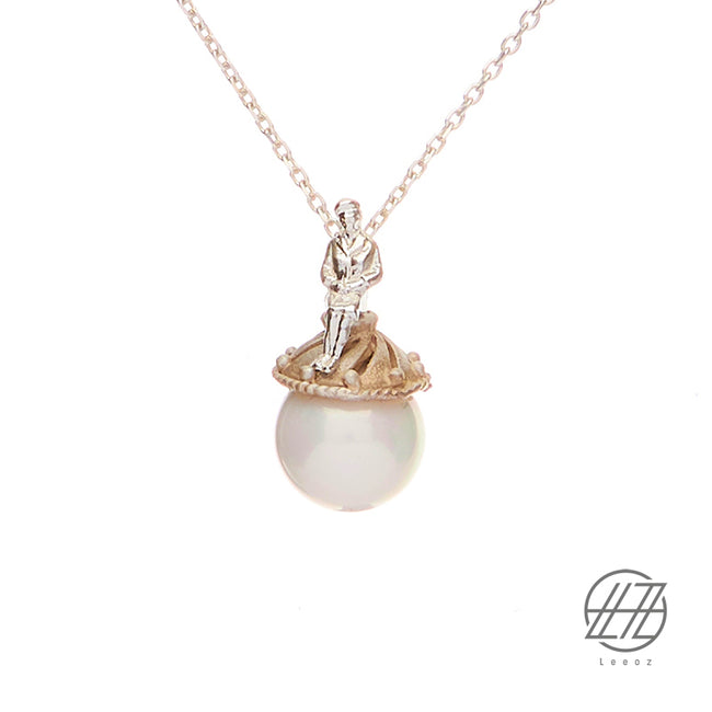 Handmade Silver and Pearl Necklace