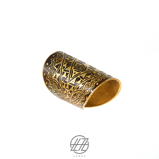 Handmade Etched Brass, The Ancestor Ring