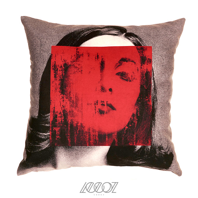 Abstract Face Velvet Soft Solid Square Pillow Cover