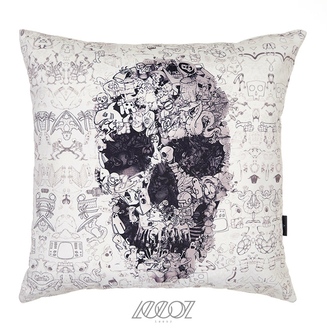 Mexican Skull Velvet Soft Solid Decorative Square Pillow Cover