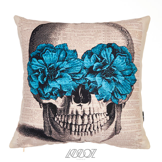 Day of the dead sugar Mexican skull Velvet decorative Pillow Cover