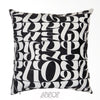 Abstract Black and White Velvet Decorative Pillow Cover