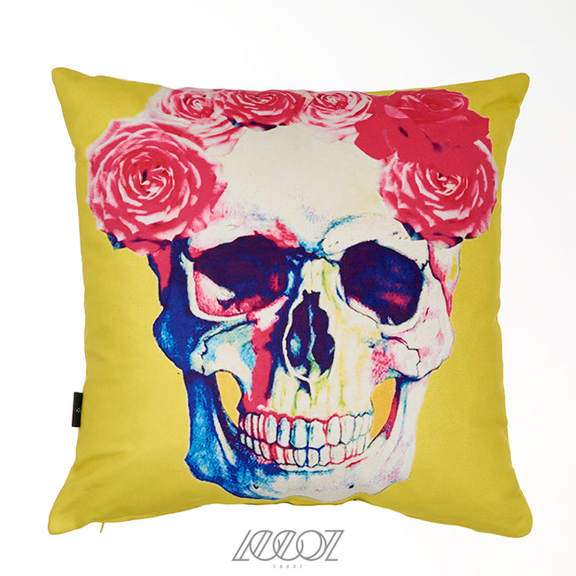 Day of the dead, sugar Mexican skull velvet decorative Pillow Cover
