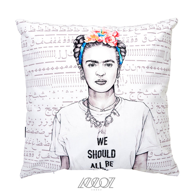 Frida Kahlo Velvet Decorative Square Pillow Cover