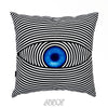 Evil Eye Black and White Velvet Decorative Pillow Cover