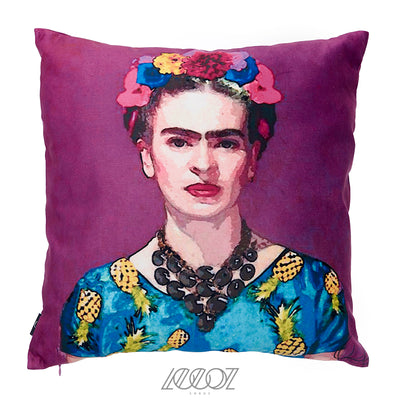 Mexican Painter- Frida Kahlo Velvet Decorative Pillow Cover