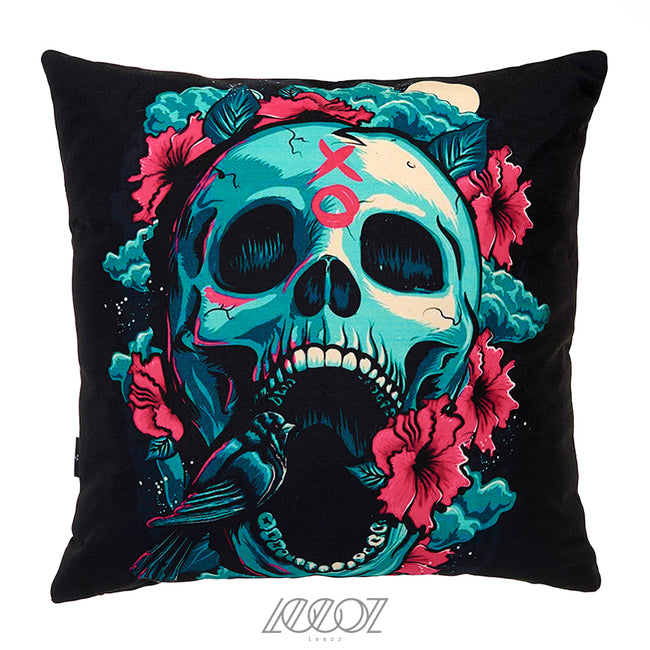 XO Sugar Skull Velvet Soft Decorative Pillow Cover