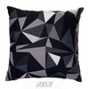 Black and White 3D Abstract Velvet Decorative Pillow Cover