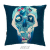 Mexican Skull Velvet Decorative Pillow Cover