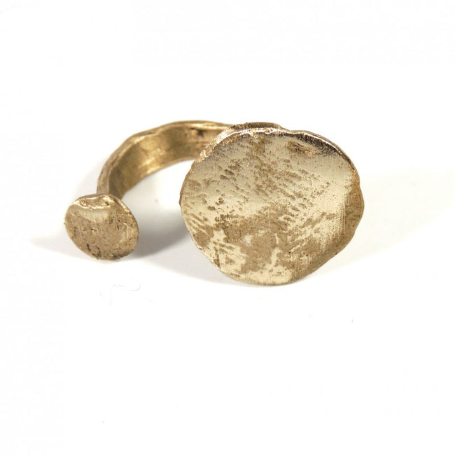 Open Ring Unique Solid Bronze Ring adaptable to the finger Made In Italy