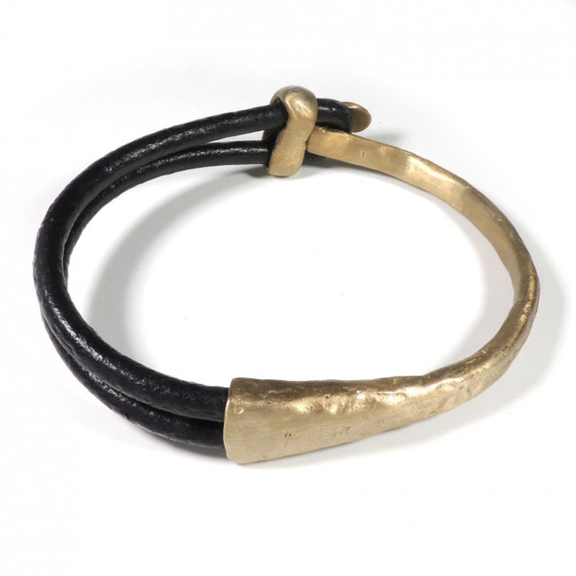 Bronze leather hand made bracelet Made in Italy