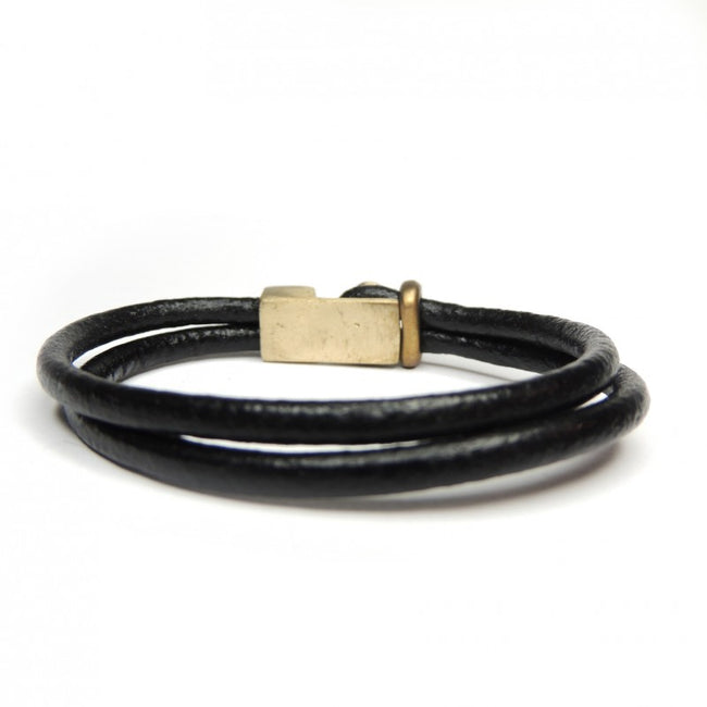 Bronze leather bracelet made in Italy