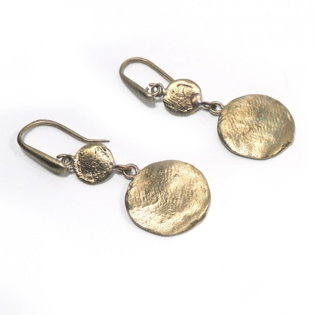 solid bronze earrings Made in Italy