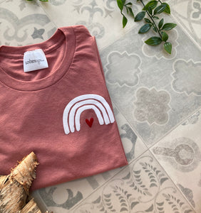 Rainbow Dusty Pink T-shirt.