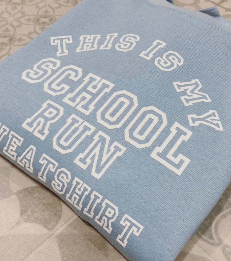 School Run Sweatshirt (SkyBlue/White)