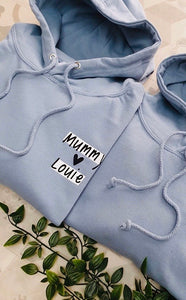 Mummy Loves Hoodie (Dusty Blue)