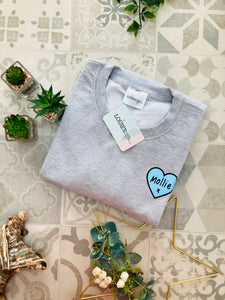 MAMA Blue Heart Sweatshirt