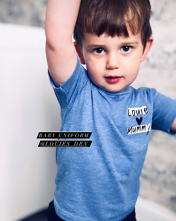 Baby loves Mummy Blue T-Shirt