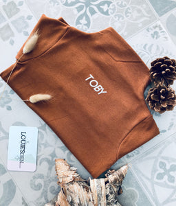 Brown Personalised Turtle Neck