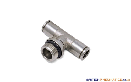 10Mm To 1/4 Central Branch Tee Male Push-In Fitting (Nickel Plated Brass) General