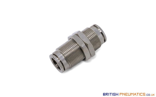 12Mm Bulkhead Connector Push-In Fitting (Nickel Plated Brass) General