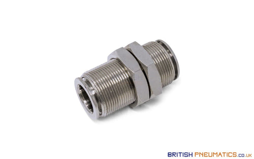 12Mm To Union Bulkhead Connector Push-In Fitting (Nickel Plated Brass) General