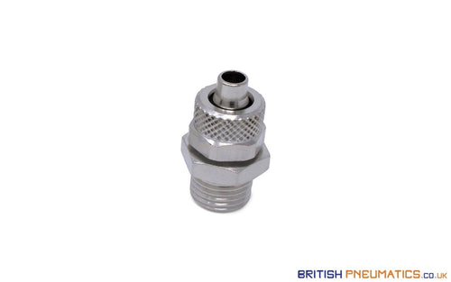 1/4 Bsp To 8Mm Male Stud Rapid Fittings (Nickel Plated Brass) General