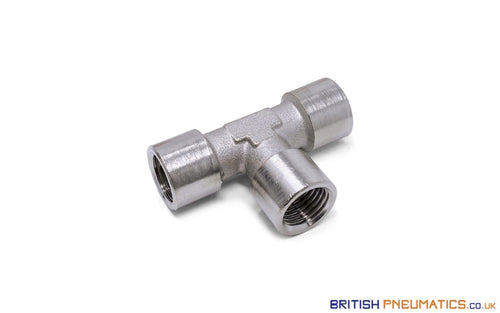 1/4 Female Union Tee Metallic Pneumatic Fitting (Nickel Plated Brass) General