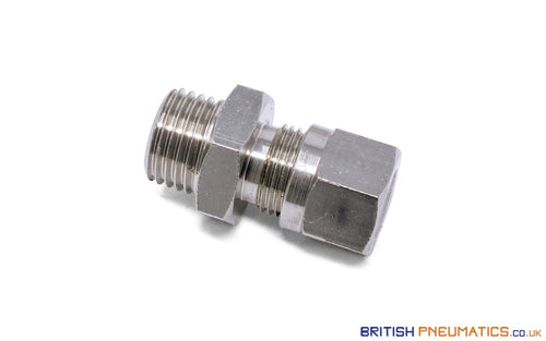 1/4 To 8Mm Compression Fitting Bsp Stud (Nickel Plated Brass) General