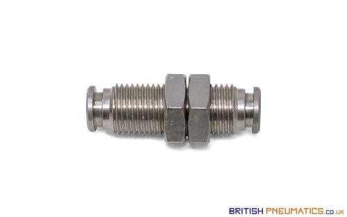 4Mm Bulkhead Connector Push-In Fitting (Nickel Plated Brass) General