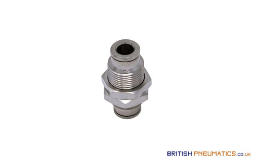 6Mm Bulkhead Connector Push-In Fitting (Nickel Plated Brass) General