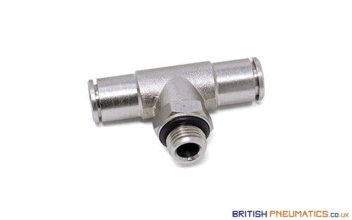 6Mm To 1/4 Central Branch Tee Male Push-In Fitting (Nickel Plated Brass) General