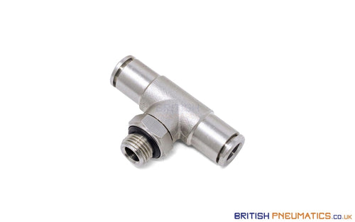6Mm To 1/8 Central Branch Tee Male Push-In Fitting (Nickel Plated Brass) General
