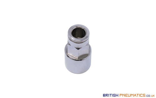 8Mm To 1/4 Straight Female Stud Push-In Fitting (Nickel Plated Brass) General
