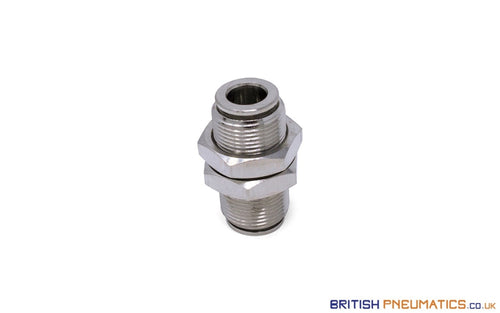 8Mm To Union Bulkhead Connector Push-In Fitting (Nickel Plated Brass) General