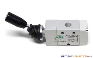 "API A1MA132LT Manual Valve 1/8"", 3/2 Push Pull - British Pneumatics (Online Wholesale)"