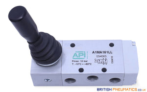 "API A1MA151LL Manual Lever Valve 1/8"", 5/2, Two Stable Positions Side Lever - British Pneumatics (Online Wholesale)"