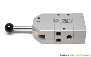 "API A1MA171LT Manual Valve 1/8"", 5/3, Automatic Spring Return - British Pneumatics (Online Wholesale)"