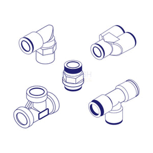 Camozzi 1631 01-1/4 Bspp And Metric Banjo Bolt Rapid Fitting For Plastic Tube General