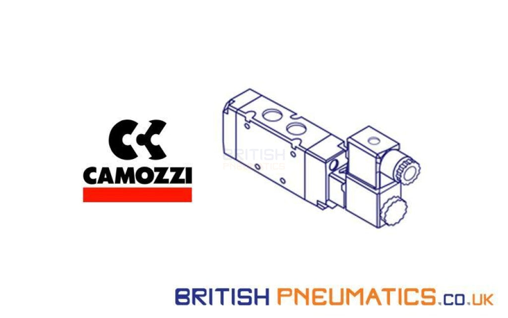 Camozzi 901 G1A Single Sub-Base With Rear Outlet Directional Control Solenoid Valve General