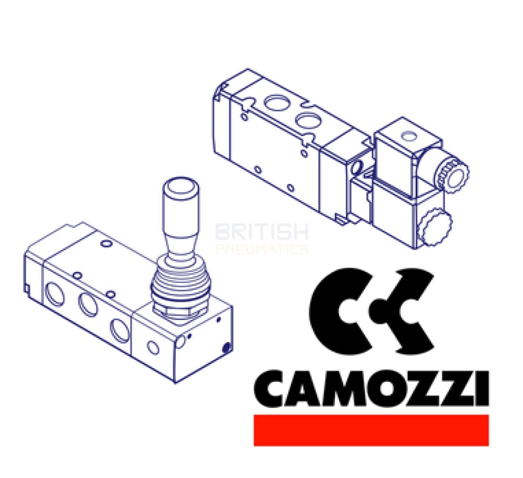 Camozzi 952 000 34 5/2 Pneumatic Differential Return (951 & 953) Directional Control Solenoid Valve