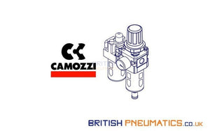 Camozzi Mx2-3/8-Fr0004 Semi Auto Drain 25 Micron Self Relieving 0.5-10 Bar Built In Gauge Series Mx