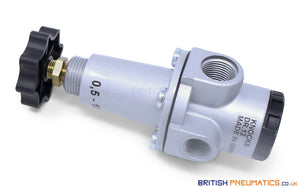 "Knocks DR.12 Pressure Regulator R,3/8"", 0.5-10BAR - British Pneumatics (Online Wholesale)"